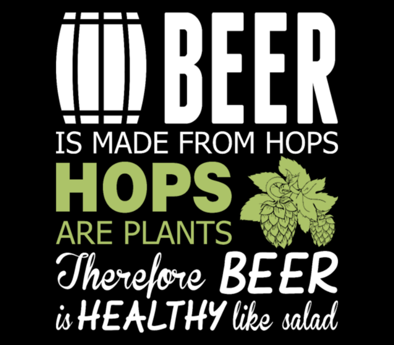 Beer Is Made From Hops Healthy Like Salad