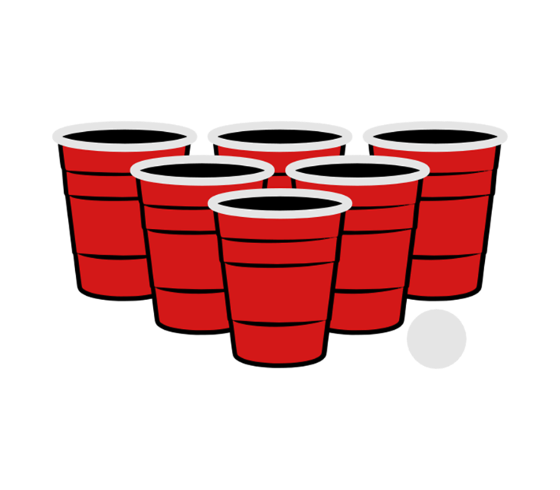 Beer Pong 3 Color Vector