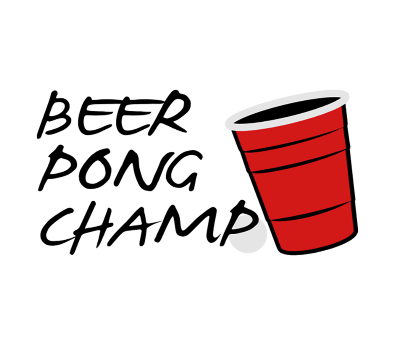 Beer Pong Champ 3 Color Vector Design