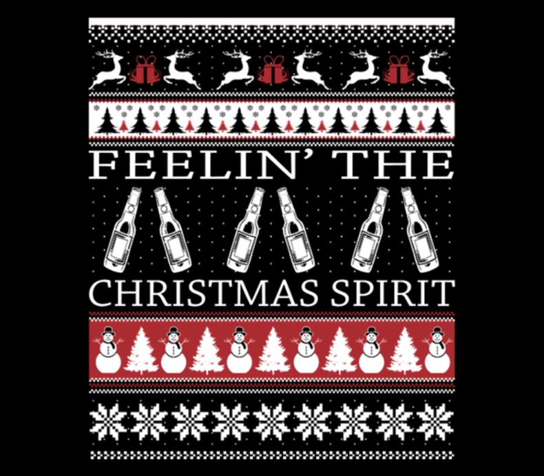 Beer Christmas Sweater.Beer Ugly Christmas Sweater Beer Label