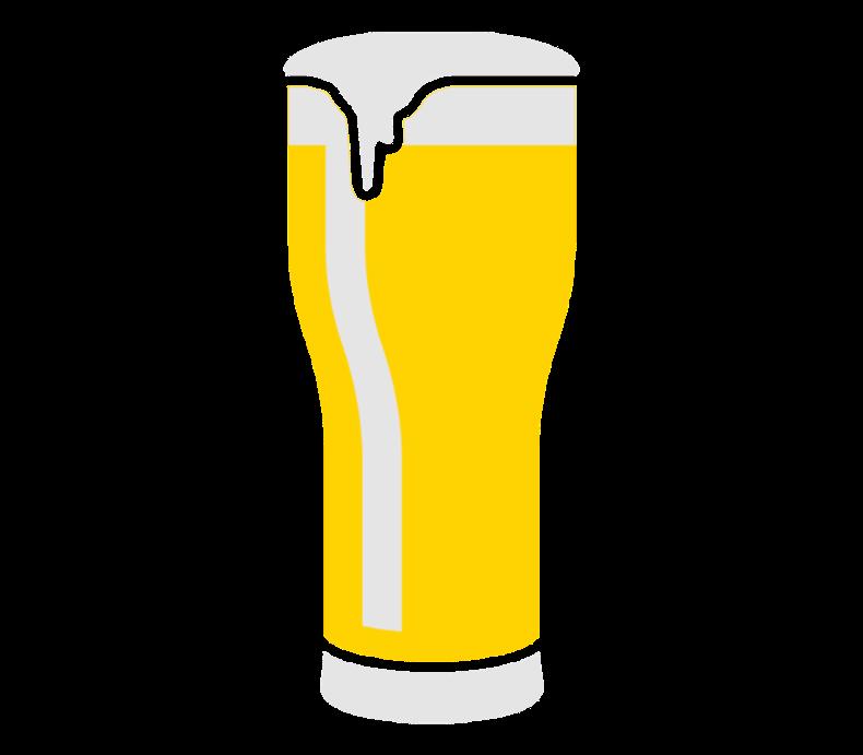 Black Beer Glas