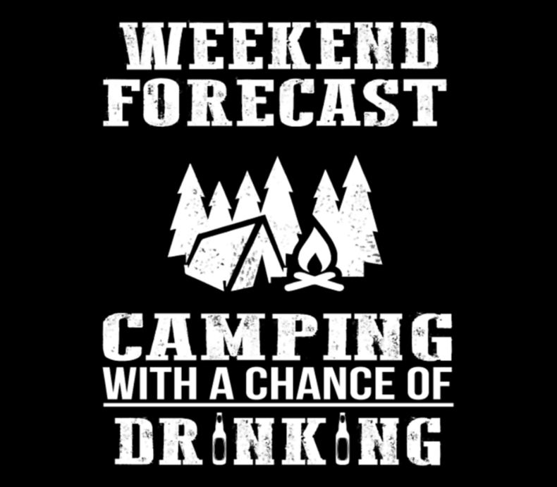 Camping Beer Funny