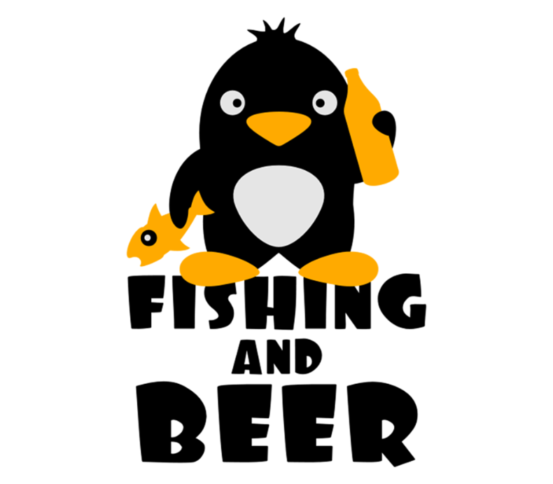 Fishing And Beer Penguin