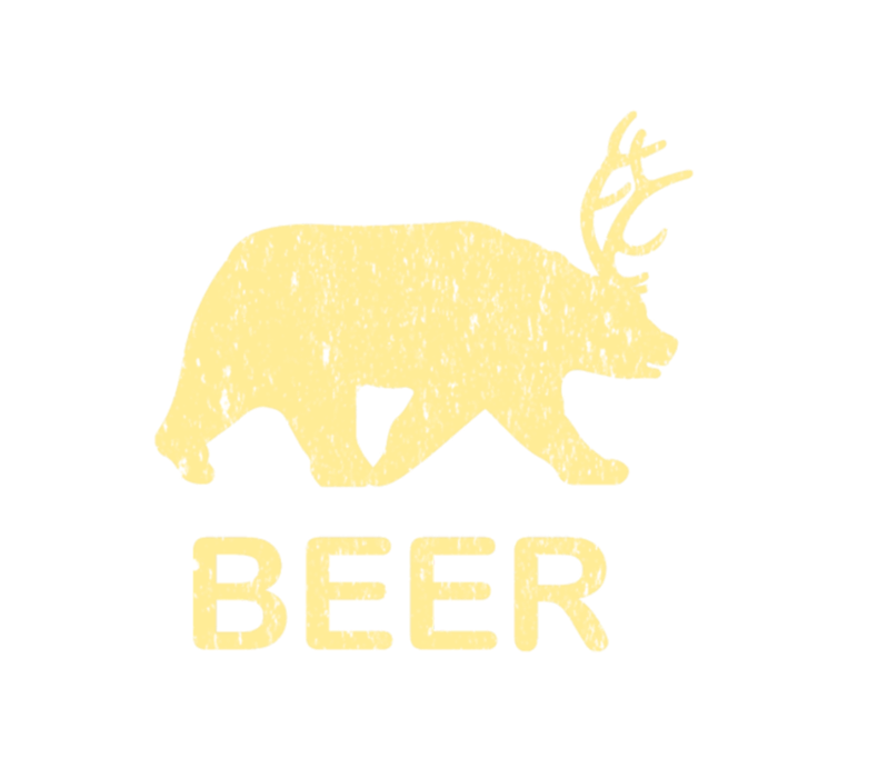 Funny Gym Beer Bear Deer Vintage