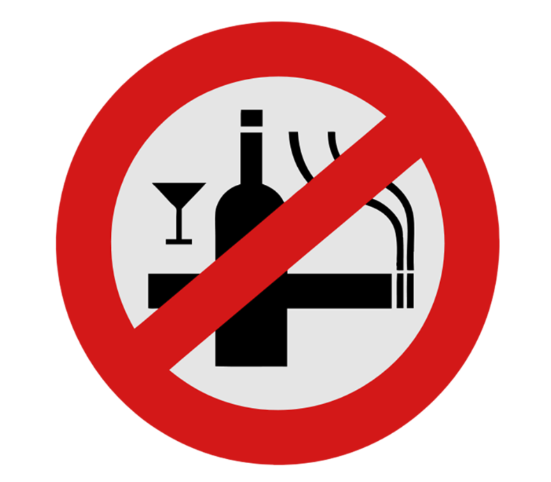 No Smoking Alcohol Sign