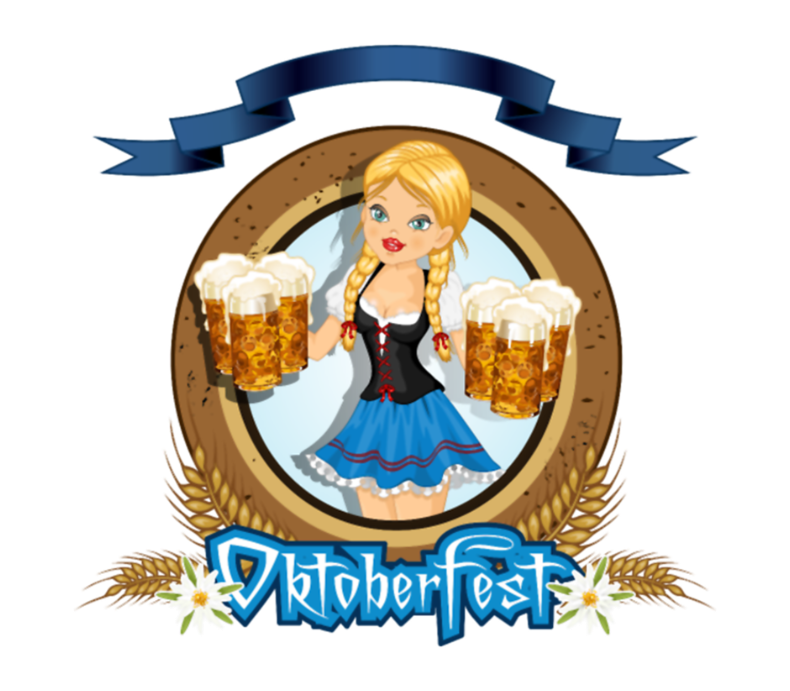 Oktoberfest Girl With Beer Logo