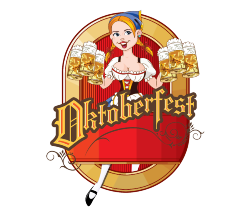 Oktoberfest Cartoon Pin Up Blond German Beer