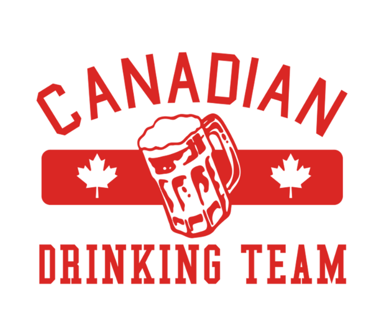 Red Canadian Drinking Team Men