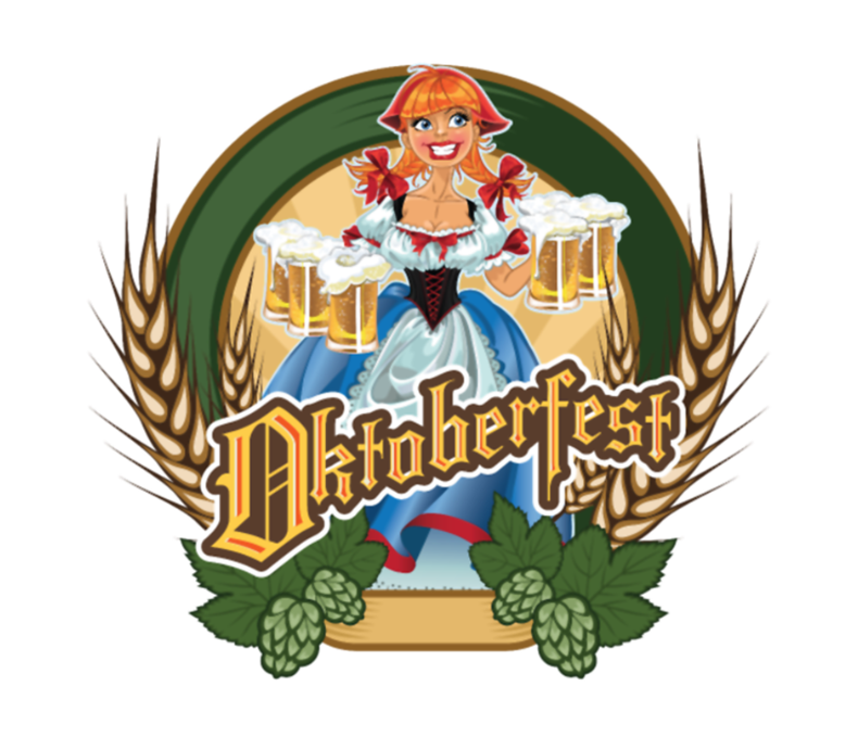 Oktoberfest Pin Up Red Headed German Beer