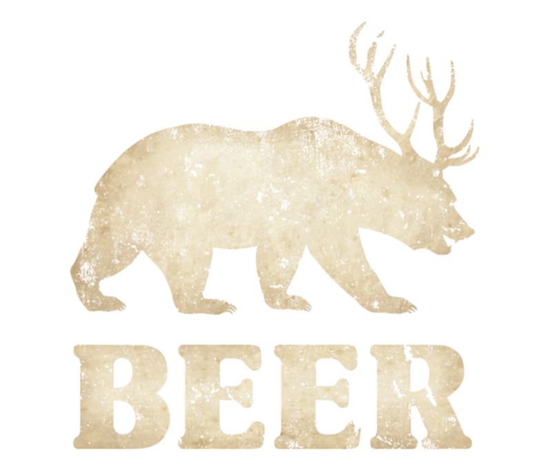 Vintage Bear Deer Beer