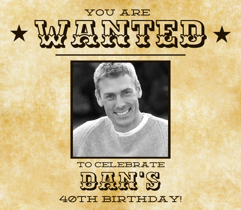 40th Birthday Wanted