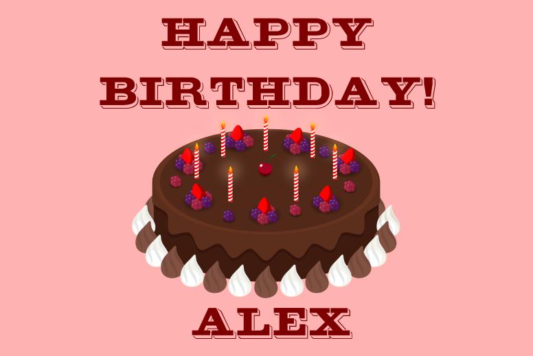 Birthday Chocolate Cake
