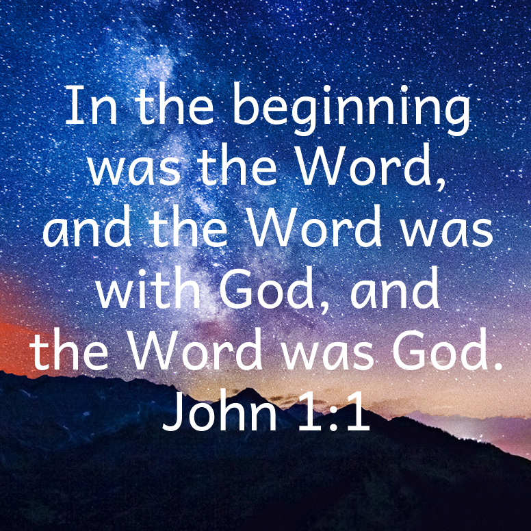 John 1 The Beginning Was The Word