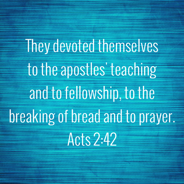 Acts 2 They Devoted Themselves