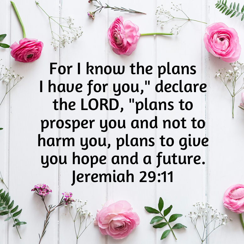 Jeremiah 29 For I Know The Plans
