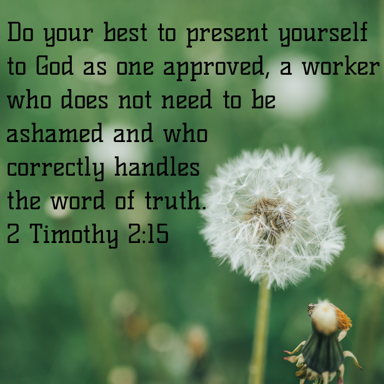 2 Timothy 2 Do Your Best To Present Yourself