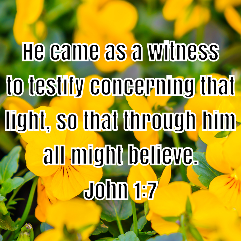 John 1 He Came As A Witness