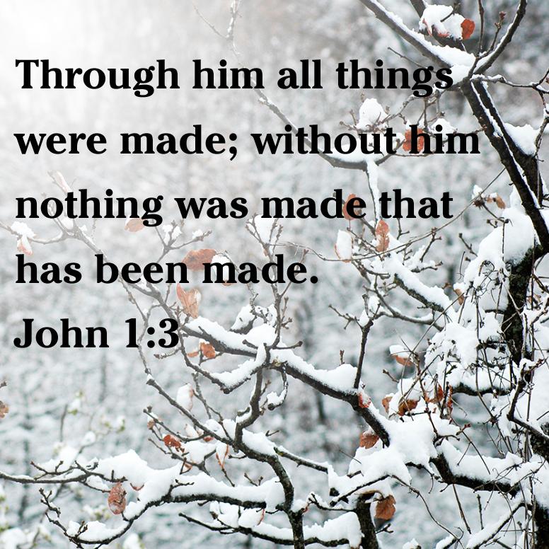 John 1 Through Him All Things Were