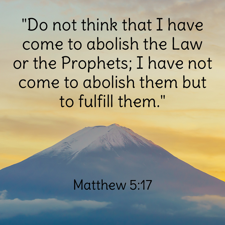 Matthew 5 Do Not Think That I Have