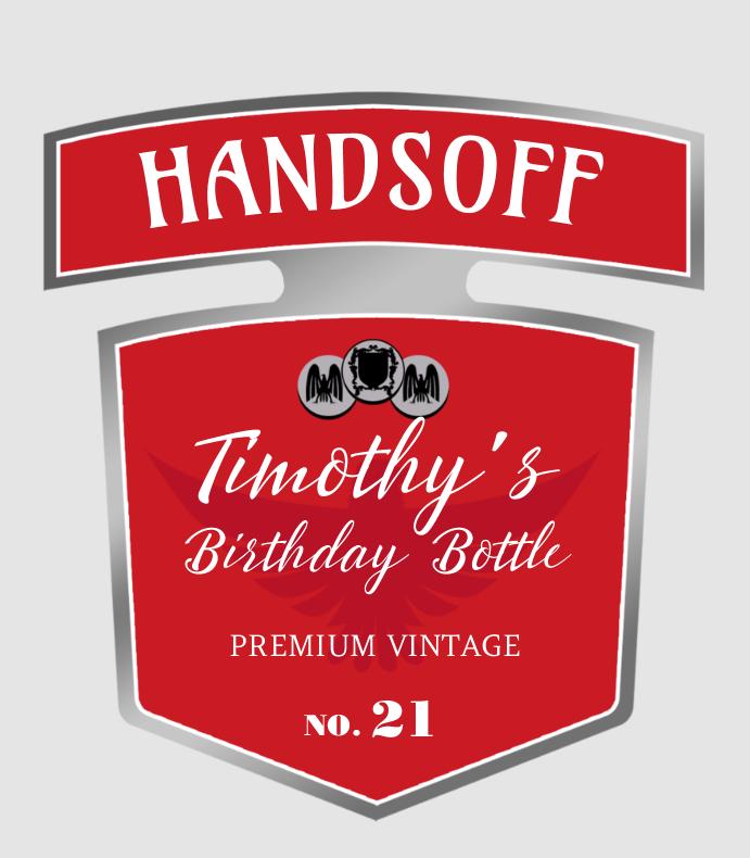 Handsoff Birthday Bottle