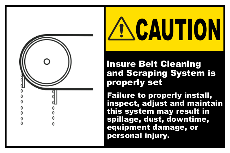 Ensure Belt Cleaning System Is Set