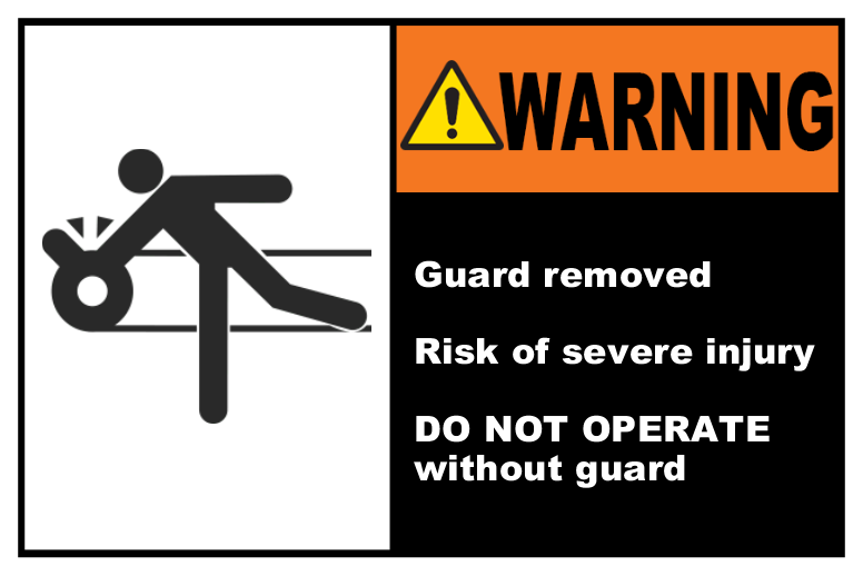Guard Removed Risk of Injury
