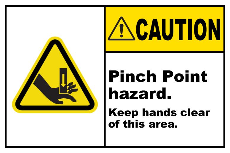 Pinch Point Hazard Keep Clear