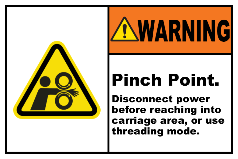 Warning Pinch Point Disconnect