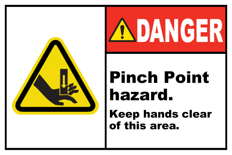 Pinch Point Hazard Keep Clear