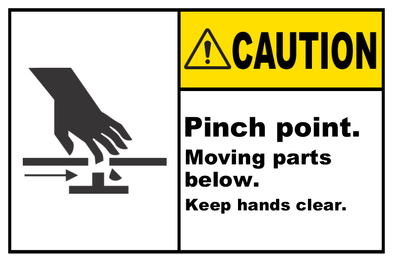 Pinch Point Keep Hands Clear