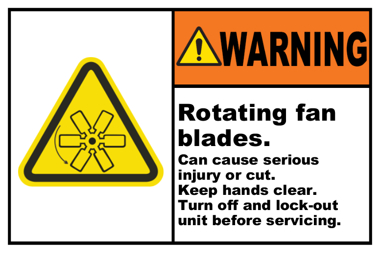 Rotating Fan Blades Lock-Out