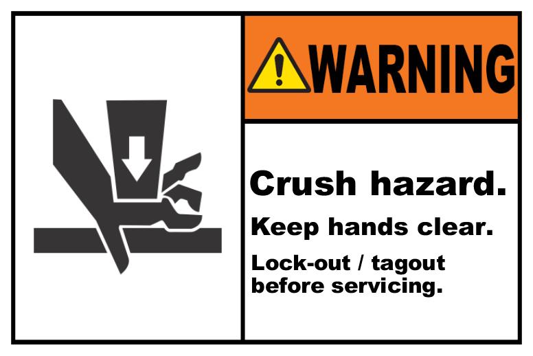 Crush Hazard Lock-Out Tagout