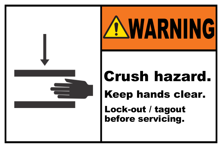 Crush Hazard Lock-Out Tagout