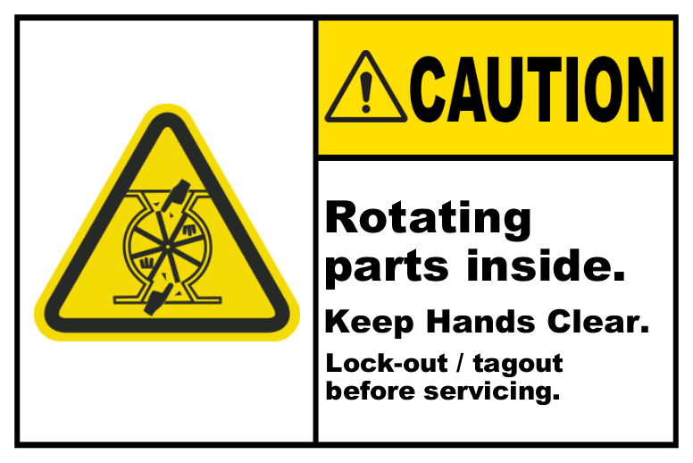 Rotating Parts Inside Lock-Out