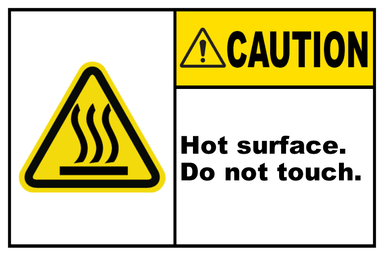 Hot Surface Do Not Touch