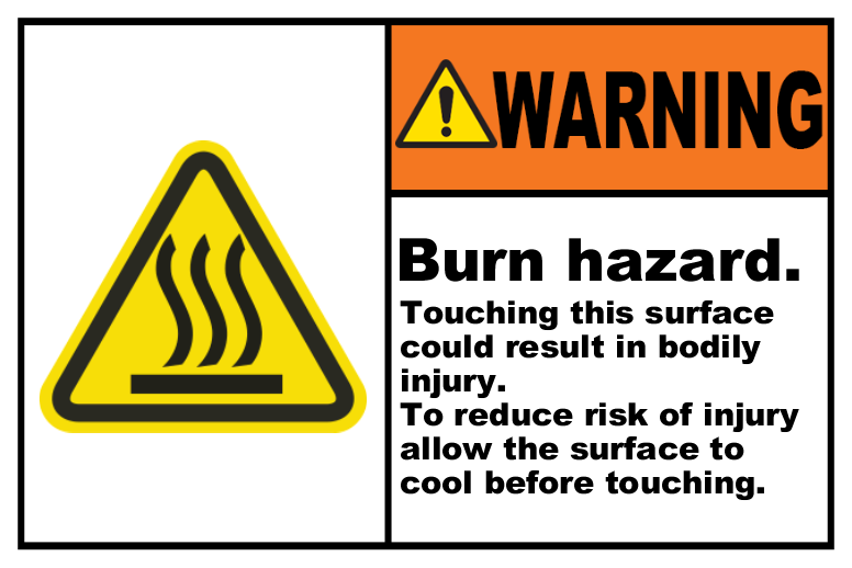 Burn Hazard Allow To Cool