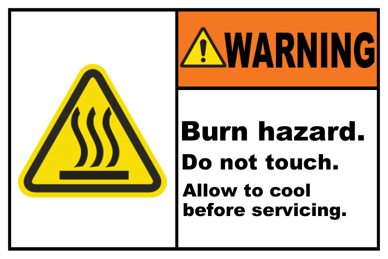 Burn Hazard Do Not Touch