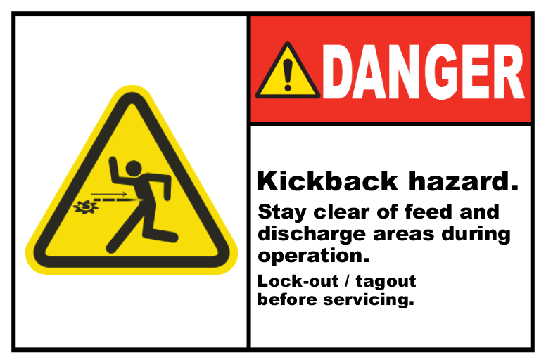 Kickback Hazard Stay Clear