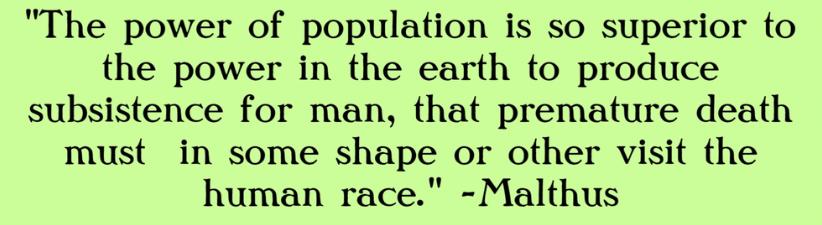 Malthus Conclusion