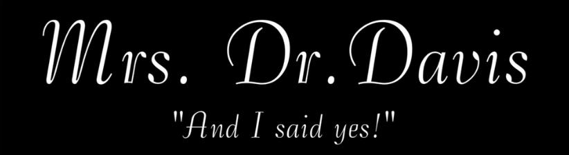 Mrs Dr Davis Bride