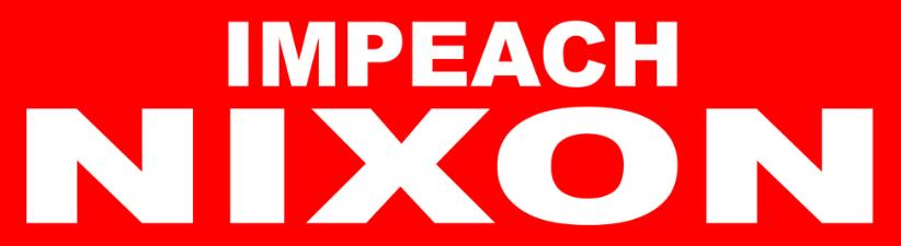 1970s Impeach Nixon Vintage