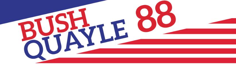 1988 Bush Quayle Vintage
