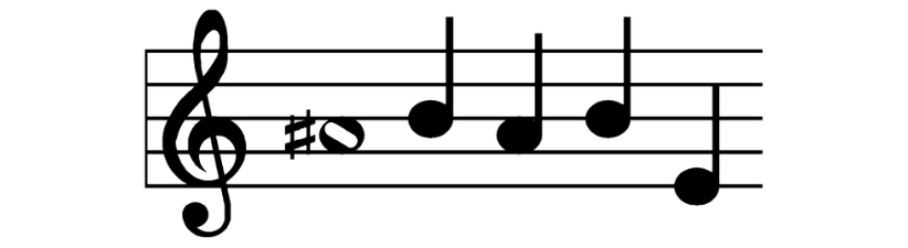 A Sharp Babe Musical Notes