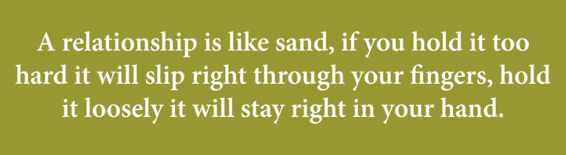 A Relationship Is Like Sand