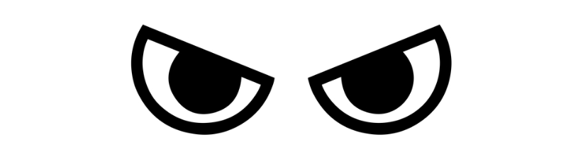 Angry Eyes Face