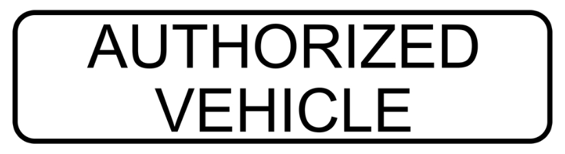 Authorized Vehicle