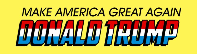 Donald Trump Make America Great Again Super Hero