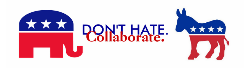 Dont Hate Collaborate Political Bumper