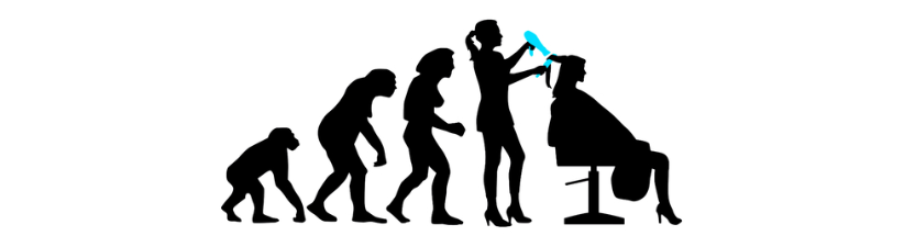 Evolution Of Woman Female More Hairdresser