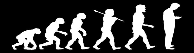 Evolution Of Man Texting Dark